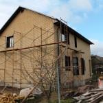Каркасный дом с облицовочным кирпичом