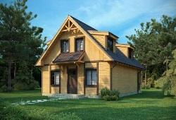 Проекты домов из бруса 6х6