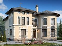 Проекты кирпичных домов с эркером