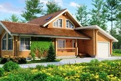 Дизайн загородного дома из бруса