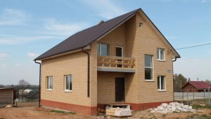 Дом по проекту А-117(газосиликат+кирпич)