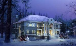 Строительство дома с колоннами