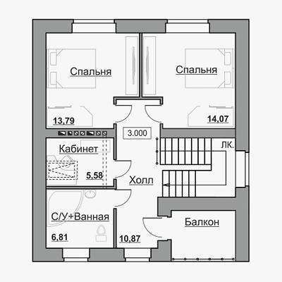 Дом в коттеджном поселке Серово - планировка