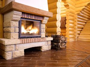 Строительство дома с камином