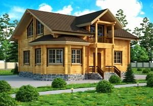 Дом из сухого бруса