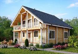 Чем хороши деревянные дома с террасой?