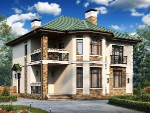 Строительство дома с балконом