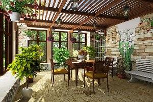 Строительство дома с верандой: нюансы